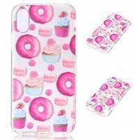 Bossi gelový obal na mobil iPhone X - sladké neřesti