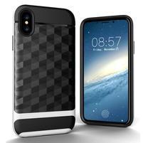Hybridní odolný obal na mobil iPhone X - bílý