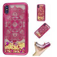 Candy přesýpací gelový obal na iPhone X - lotus