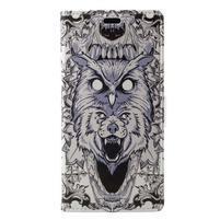 Print PU kožené peněženkové pouzdro na iPhone XR - zvířecí potisk