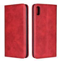Wally PU kožené peněženkové pouzdro pro iPhone XS Max - červené