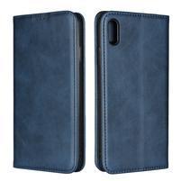 Wally PU kožené peněženkové pouzdro pro iPhone XS Max - modré