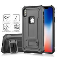 Kick hybridní odolný obal na mobil iPhone XS Max - šedý