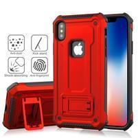 Kick hybridní odolný obal na mobil iPhone XS Max - červený
