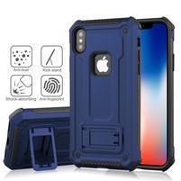 Kick hybridní odolný obal na mobil iPhone XS Max - modrý