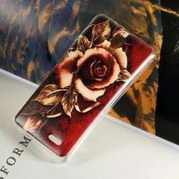 Hearts gelový obal na Lenovo A536 - růže