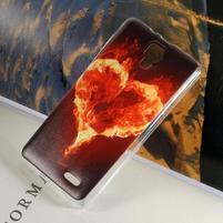 Hearts gelový obal na Lenovo A536 - ohnivé srdce