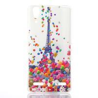 Emotive gelový obal na Lenovo A6000 - Eiffelova věž