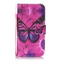 Emotive zapínací peněženkové pouzdro na Lenovo K5/ K5 Plus - motýl