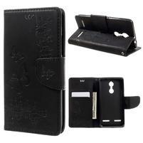 Butterfly knížkové pouzdro na mobil Lenovo K6 - černé