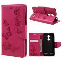 Butterfly knížkové pouzdro na mobil Lenovo K6 - rose