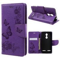 Butterfly knížkové pouzdro na mobil Lenovo K6 - fialové