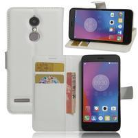 Texture knížkové pouzdro na mobil Lenovo K6 - bílé