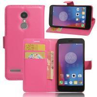 Texture knížkové pouzdro na mobil Lenovo K6 - rose