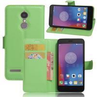 Texture knížkové pouzdro na mobil Lenovo K6 - zelené