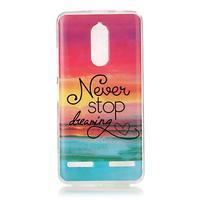 Colory gelový obal na mobil Lenovo K6 - nepřestávej snít