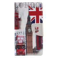 Emotive PU kožené pouzdro na mobil Lenovo K6 - London