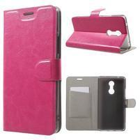 Horse PU kožené pouzdro na mobil Lenovo K6 Note - rose