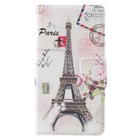 Emotive knížkové PU kožené pouzdro na Lenovo K6 Note - Eiffelova věž
