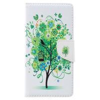 Emotive knížkové PU kožené pouzdro na Lenovo K6 Note - zelený strom