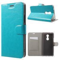Horse PU kožené pouzdro na mobil Lenovo K6 Note - modré