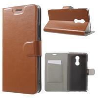 Horse PU kožené pouzdro na mobil Lenovo K6 Note - hnědé