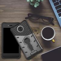 Armory odolný obal 2v1 na mobil Lenovo Moto C - šedý