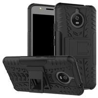 Outdoor odolný obal 2v1 na mobil Lenovo Moto E4 Plus - černý
