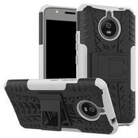 Outdoor odolný obal 2v1 na mobil Lenovo Moto E4 Plus - bílý