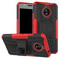 Outdoor odolný obal 2v1 na mobil Lenovo Moto E4 Plus - červený