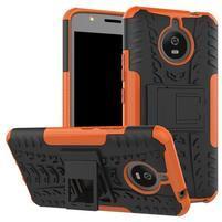 Outdoor odolný obal 2v1 na mobil Lenovo Moto E4 Plus - oranžový