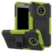 Outdoor odolný obal 2v1 na mobil Lenovo Moto E4 Plus - zelený