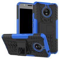 Outdoor odolný obal 2v1 na mobil Lenovo Moto E4 Plus - modrý