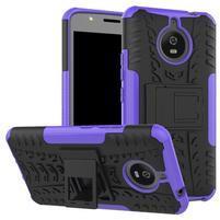 Outdoor odolný obal 2v1 na mobil Lenovo Moto E4 Plus - fialový