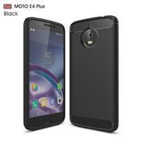 Carbon odolný obal na mobil Lenovo Moto E4 Plus - černý