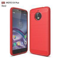Carbon odolný obal na mobil Lenovo Moto E4 Plus - červený