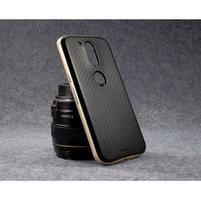 Hybridní 2v1 odolný obal na Lenovo Moto G4 a G4 Plus - zlatý