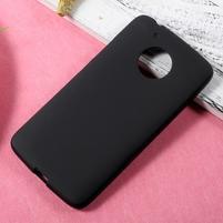 Matný gelový obal na mobil Lenovo Moto G5 - černý