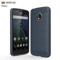 Odolný gelový obal na mobil Lenovo Moto G5 - tmavěmodrý