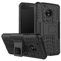 Outdoor odolný obal se stojánkem na Lenovo Moto G5 - černý