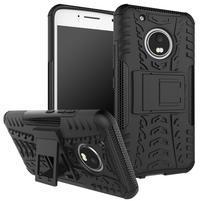 Outdoor odolný obal se stojánkem na Lenovo Moto G5 Plus - černý