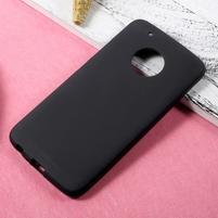Matný gelový obal na mobil Lenovo Moto G5 Plus - černý