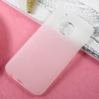 Matný gelový obal na mobil Lenovo Moto G5 Plus - transparentní
