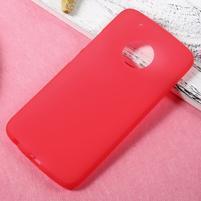 Matný gelový obal na mobil Lenovo Moto G5 Plus - červený