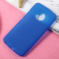 Matný gelový obal na mobil Lenovo Moto G5 Plus - modrý