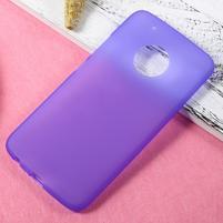 Matný gelový obal na mobil Lenovo Moto G5 Plus - fialový