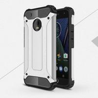 Armory odolný obal na mobil Lenovo Moto G5 Plus - stříbrný