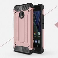 Armory odolný obal na mobil Lenovo Moto G5 Plus - růžovozlatý