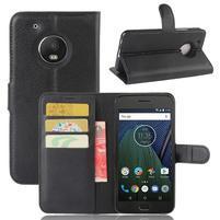 Cross PU kožené pouzdro na mobil Lenovo Moto G5 Plus - černé