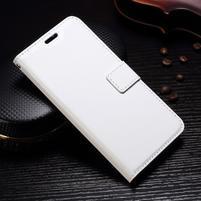 Wallet PU kožené knížkové pouzdro na Lenovo Moto G5s - bílé